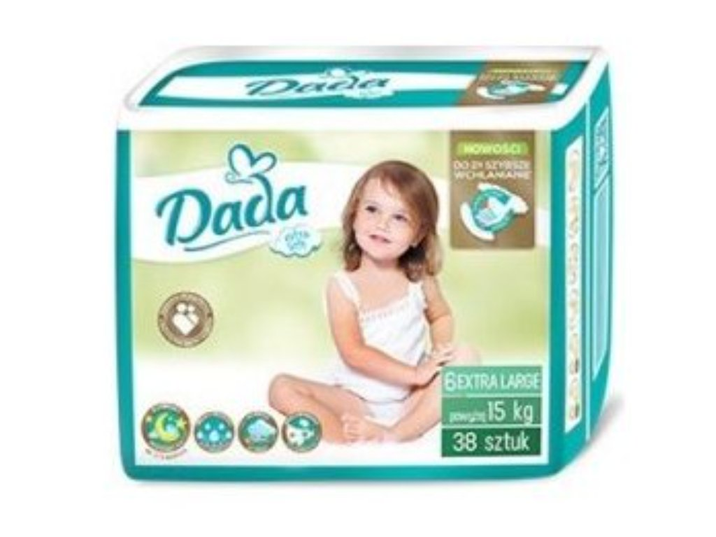 Dada Extra Soft 6 Extra Large, 15+ kg, 38 ks